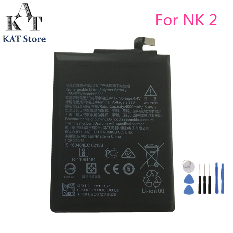 HE338 4000mAh Phone Battery For Nokia 2 Battery