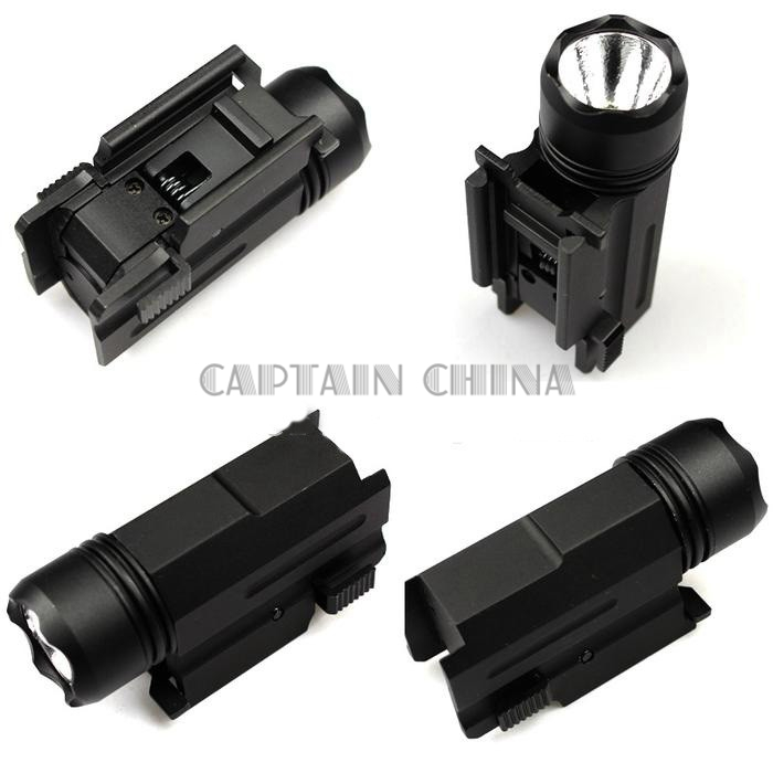 LED Shotgun Rifle Glock Gun Flash Light Tactical Torch Flashlight with Release 20mm Mount for Pistol Airsoft