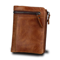 d74e4c640ffd9 ... bozuk para cüzdanı Kadın Fermuar Rahat. Teklifi Göster. 100 Genuine Leather  Men Wallet Zipper Pocket Bifold Men Wallets Short Coin Purse Retro Brand ...