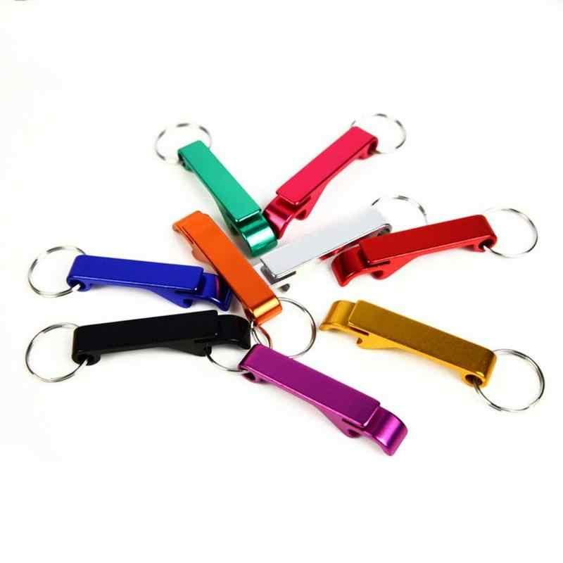 สีสันสดใส 4 In 1 ที่เปิดขวด Key Chain Chain แบบพกพาโลหะเบียร์บาร์เปิดขวดเครื่องมือฤดูร้อนเครื่องดื่มเบียร์อุปกรณ์เสริม