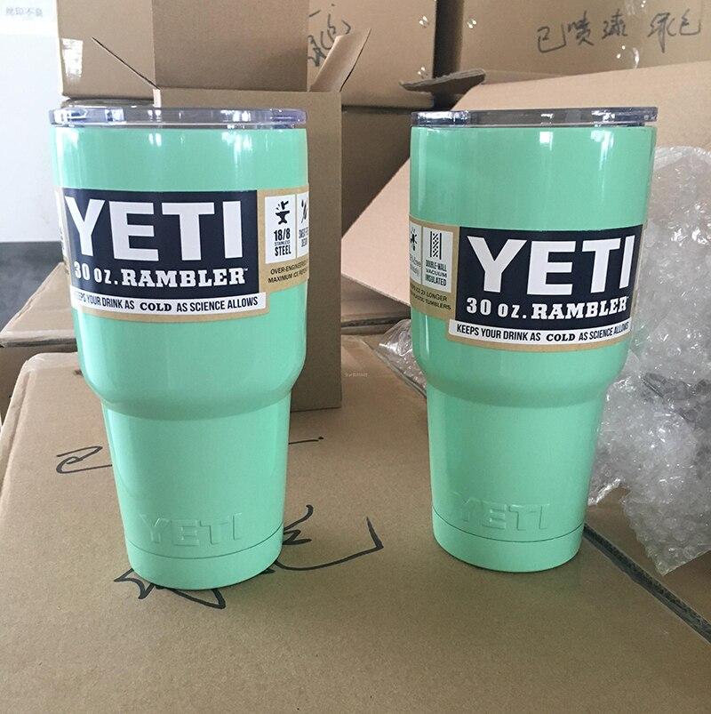 10PCS/LOT 30OZ <font><b>YETI</b></font> Cups Cars Beer Mug Large Capacity Mug Tumblerful 9 Colors <font><b>Bilayer</b></font> <font><b>Stainless</b></font> <font><b>Steel</b></font> Insulation Cup my bootl
