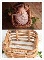 Новорожденный реквизит для фотосъемки винтажный Плетеный ротанговый детская картинка Съемная контейнерная рама студийный реквизит