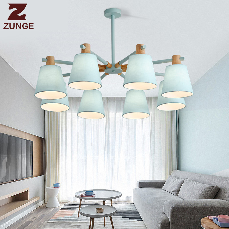 купить Modern light pendant for living room bedroom wood lights fixtures lamps P540 minimalist style personality creative chandelier онлайн