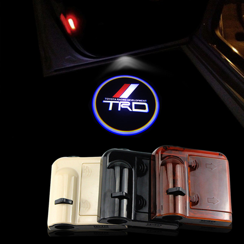 2pcs/lot Car-styling Wireless Led Car Door Projector Lights for Toyota TRD Car Door LED Logo Ghost Shadow Lights