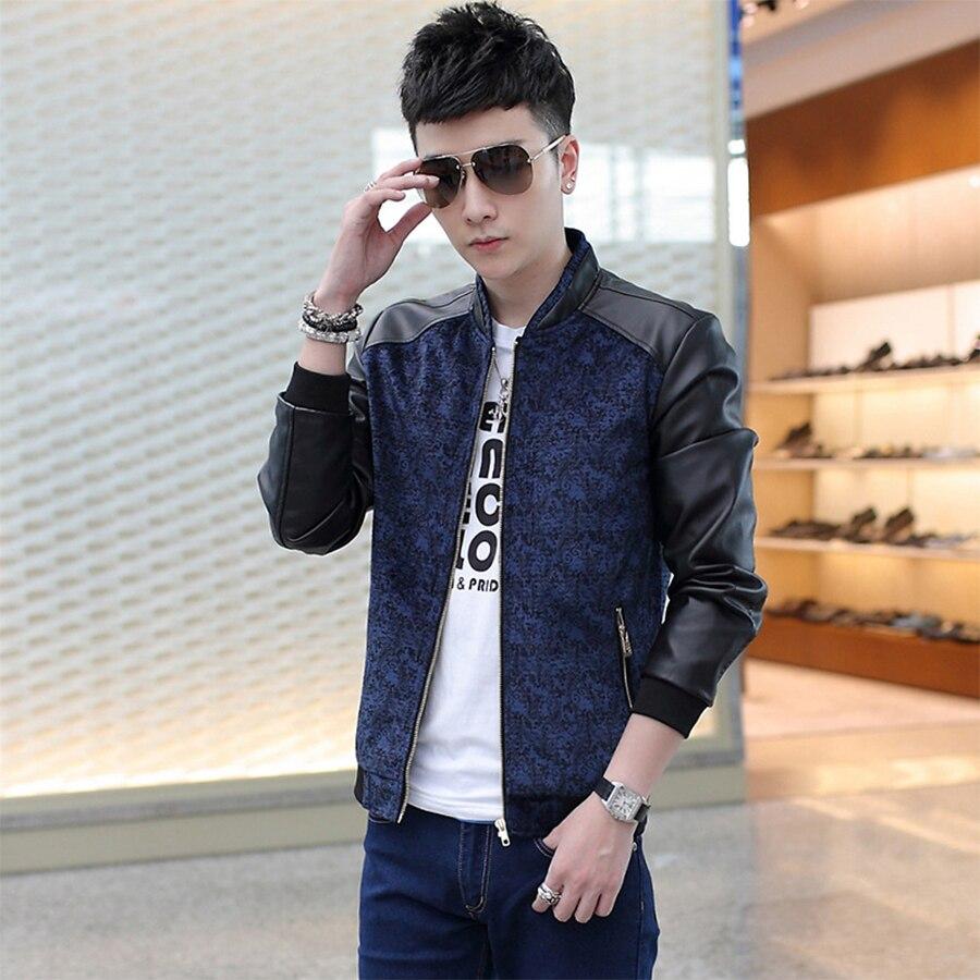 2016 New Fashion Brand Jacket Men Trend Patchwork Korean Slim Fit Mens Designer Clothes Cotoon Men Casual Jacket Slim For Male