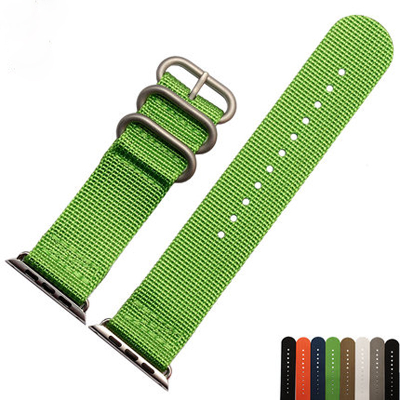 Special design Canvas Nylon Sport 38MM 42MM Apple Watch Strap Belt Watchband For Iwatch Apple Watch With Adapter Container canvas sport apple watch belt nylon 42mm apple watch strap watchband for iwatch apple watch with adapter