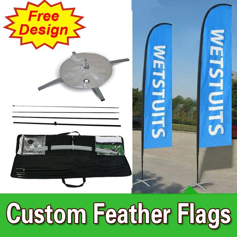 Conception gratuite livraison gratuite Double face croix Base compétitive la bannière verticale drapeaux publicité drapeaux plage drapeau