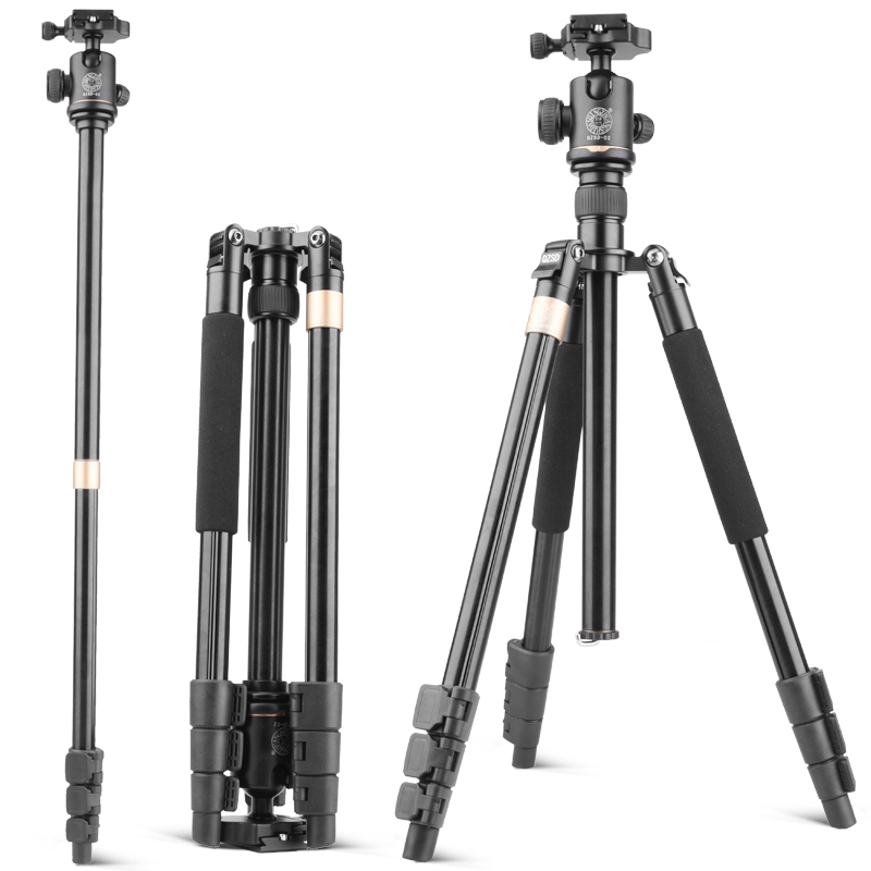 2018 Qingzhuangshidai Q999DTravel Tripod Aluminum Professional Camera 158cm Tripod with Ball head Monopod Q9DStand Kit For DSLR aluminium alloy professional camera tripod flexible dslr video monopod for photography with head suitable for 65mm bowl size