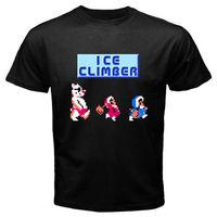 LEQEMAO New ICE CLIMBER Retro Classic Video Game Men S Black T Shirt Size S To