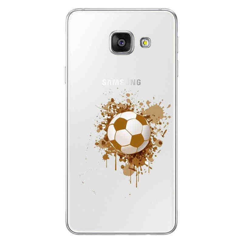كرة القدم كرة القدم الكرة على المياه حرق النار الرياضة سيليكون لينة TPU ل سامسونج 2016 2017 A3 A5 A7 J1 j3 J7
