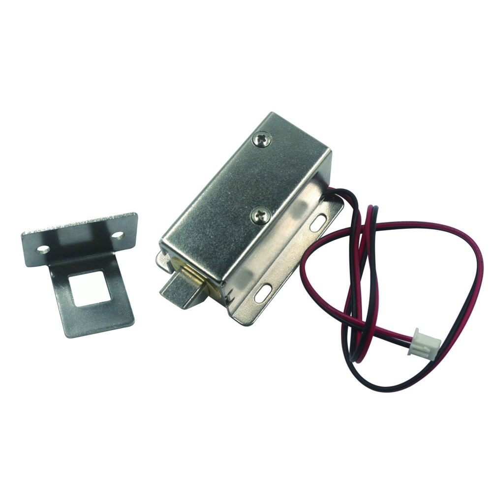 Lock Tongue downward Copper core 12V Cabinet Door Electric Lock Assembly Solenoid, with Lock Buckle 12v dc cabinet door drawer electric lock assembly solenoid lock 27x29x18mm