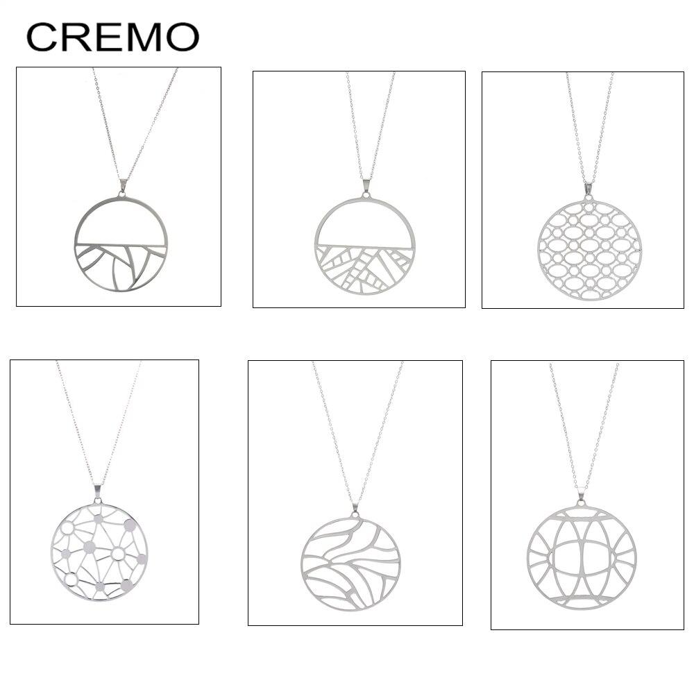 Cremo 12 Cores Intercambiáveis Reversível Couro Cadeia Charme Pingente de Colares & Pingentes Mulheres Charme Colar de Aço Inoxidável