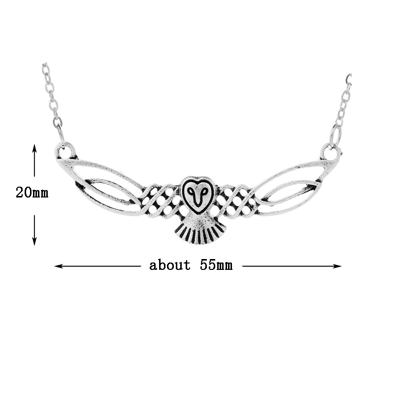 1pc Large Celtics Owl Pendant Necklace Elegant Handmade Bird Necklace For Women Spirit Pendant Talisman Amulet Jewelry
