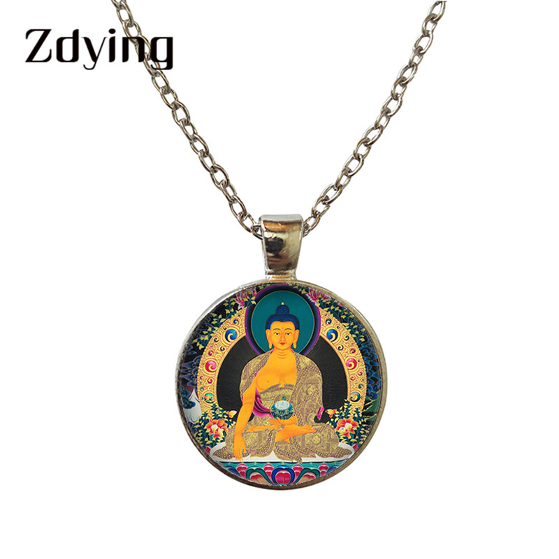 Shinto Art Picture Necklace Torii Glass Dome Pendant Buddhism Jewelry Shinto Choker Necklace Creative Gift