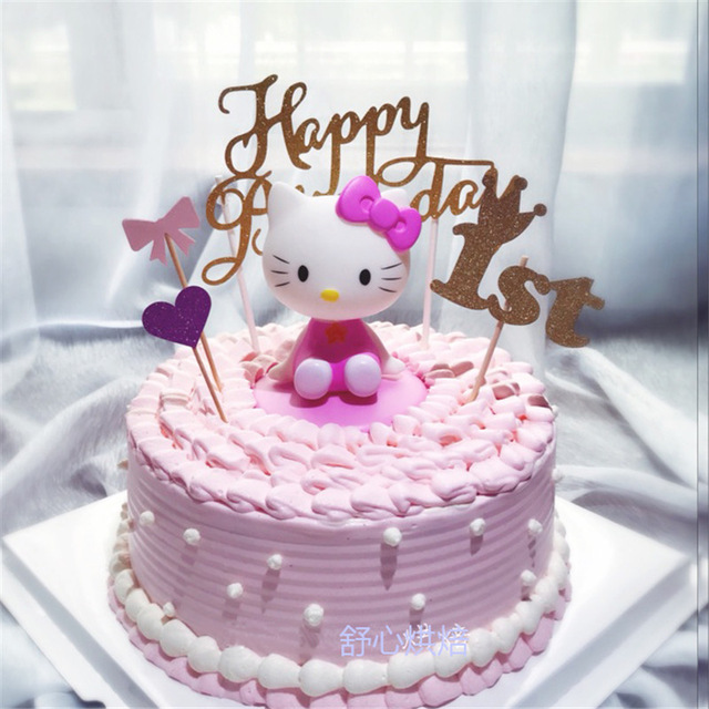 Girls Toys Hello Kitty Birthday Cake Topper Birthday Favors Fun