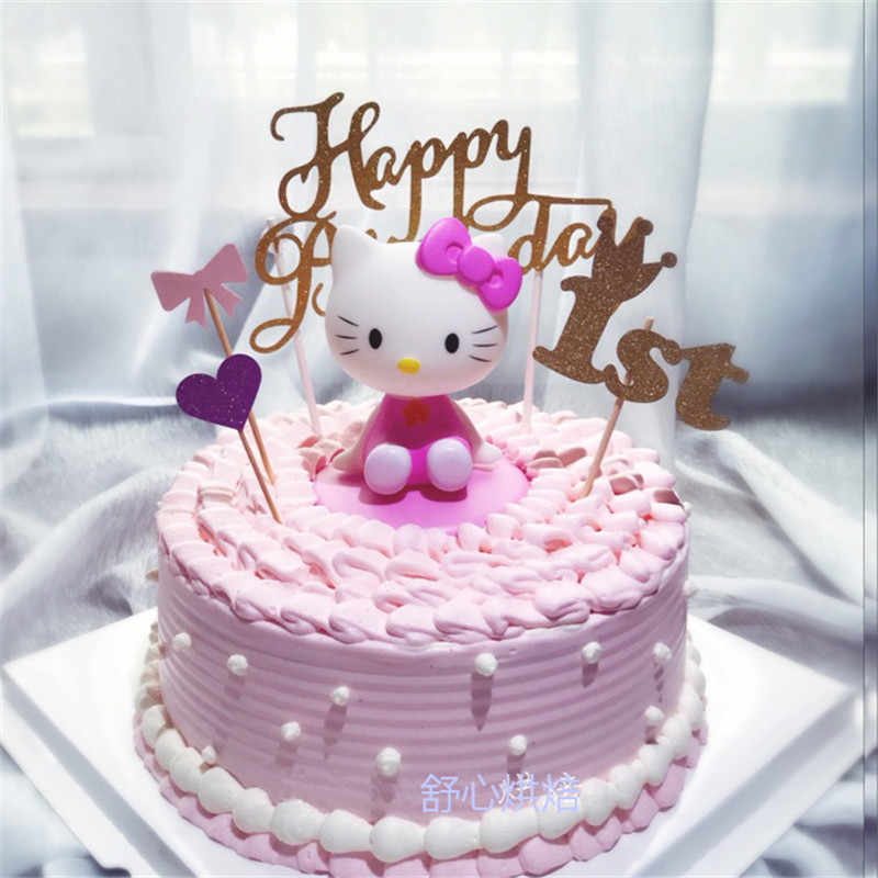 Detail Feedback Questions About Girls Toys Hello Kitty Birthday Cake Topper Favors Fun Gifts Newborn Baby Girl 1st Decorations Cat Toy