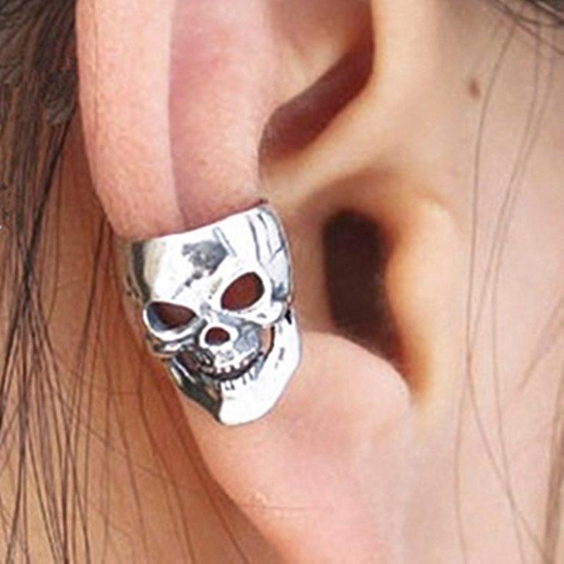 YITING 1Pc New Gothic Punk Skeleton & Skull Ear Cuff For Women & Men