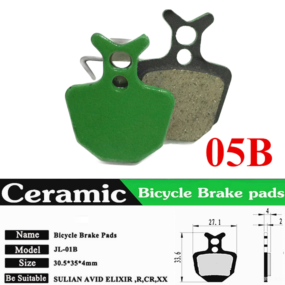 2 шт. прочные гидравлические тормозные колодки для езды на велосипеде, практичные резиновые тормозные колодки, керамические зеленые аксессуары для езды на велосипеде, 2 шт - Цвет: 02D