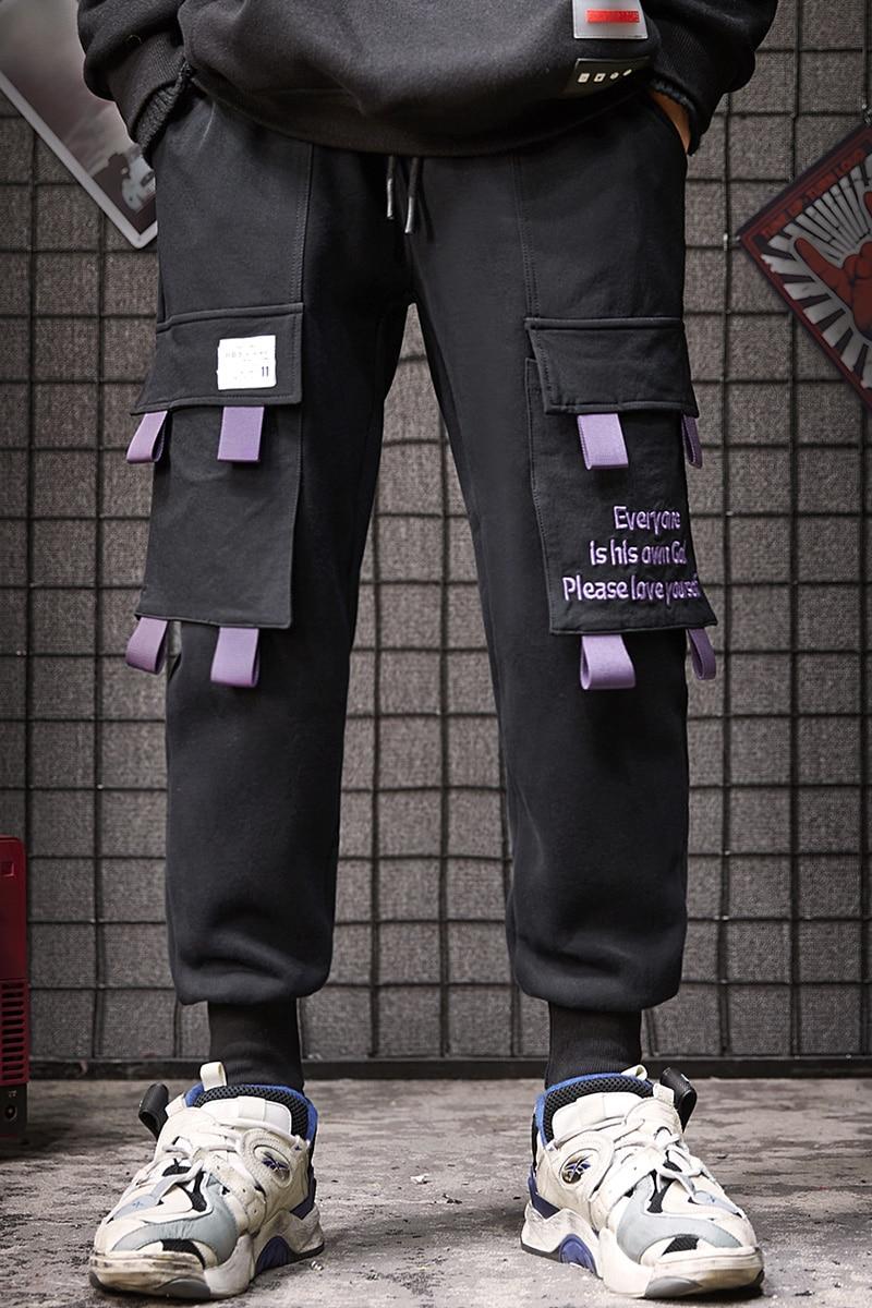 Il Pantaloni Ispessimento Nero Inverno E Per In Fondo Autunno viola Di Bf Tasca Plushing Sciolto Tempo Strada Guardia Libero Grande PZFwxF