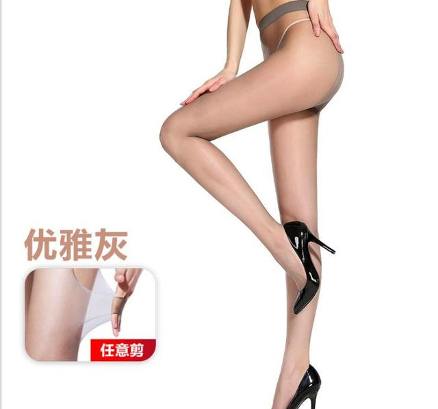 2D T crotch Thin invisible pantyhose Women's pantyhose,  sexy satin Stockings hose,Fitness Leggings  sexy lingerie 6007 2
