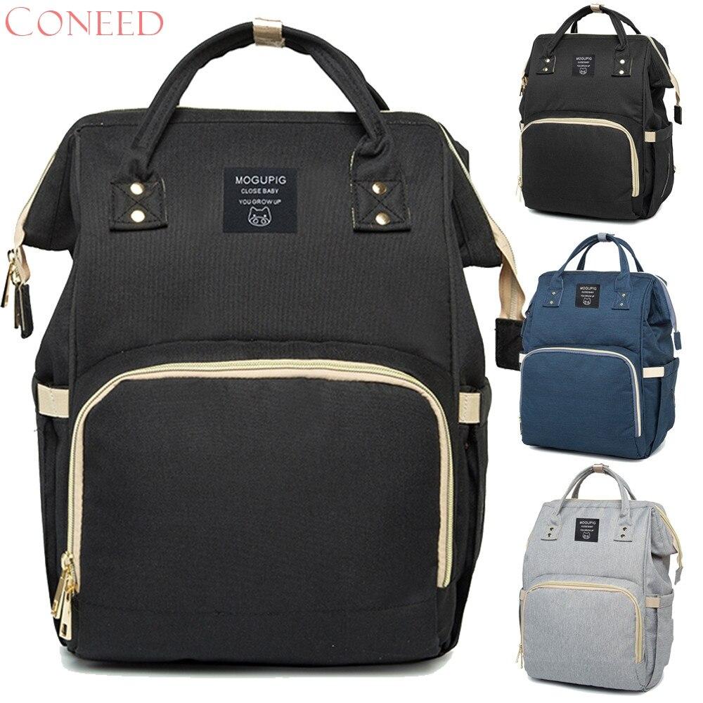 CONEED Mummy Bag Large Capacity Baby Bag Travel Backpack Desiger Nursing Bag f11m30