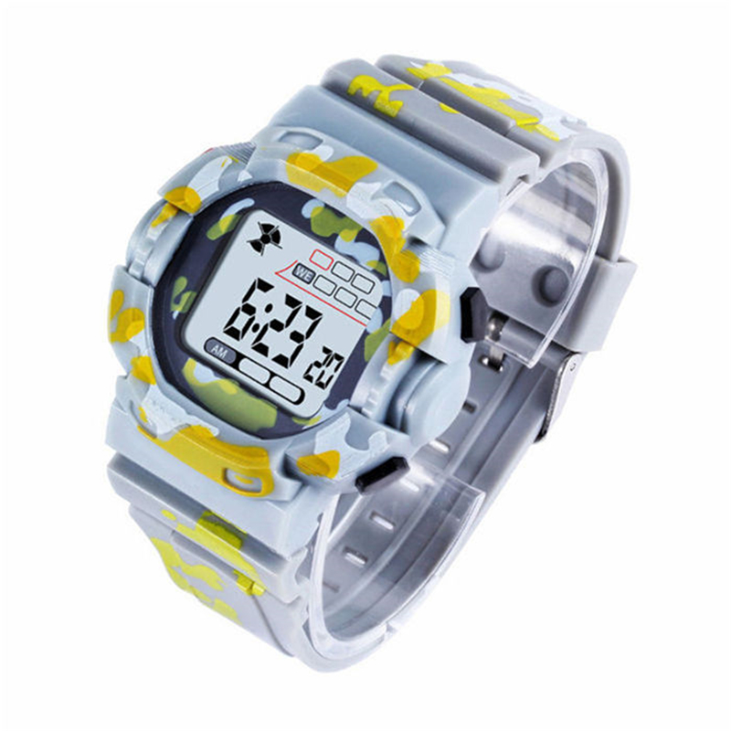 Sports Childrens Watch Military Child Kids Wrist Watches Multifunction Week Date Alarm Clock LED Digital Clock For Boy Girl Gift