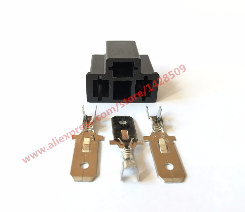 20 Sets PA66 Motorcycle H4 3 Pin Unsealed Cable Wire Connector Electrical Connector Automotive Plug Lamp
