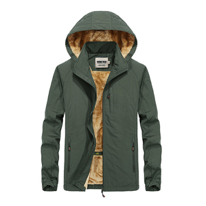 Image 2 - KOSMO MASA Black Fur Parka Men Coats Winter Jacket Mens Cotton Zipper Military Long Sleeve Hooded Casual Down Parkas 5XL MP027