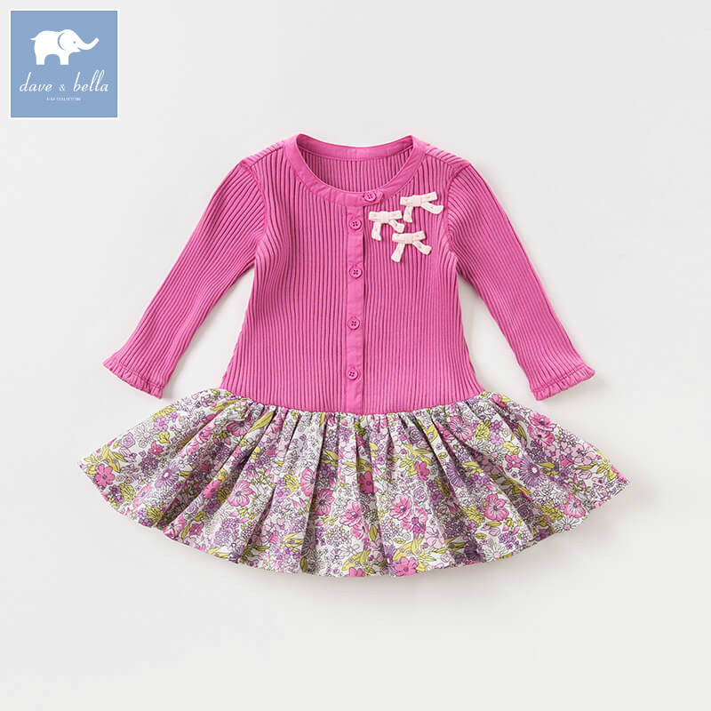 DBA7921 dave bella autumn baby girl princess dress kids birthday party knitted dress toddler children clothes db7266 dave bella baby dress girls infant toddler clothing children birthday party clothes kids summer lolita dress