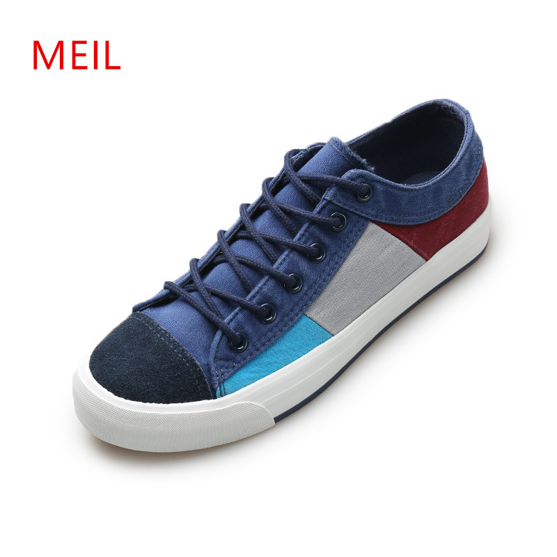 Fashion Mens Sneakers Casual Canvas Shoes Men Casual Breathable Canvas Shoes Man Denim Loafers Wear-resistant Male Shoes 2018