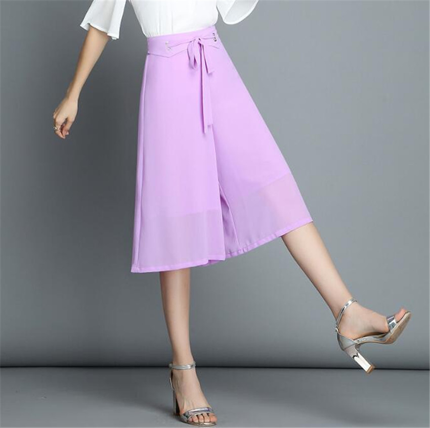 MLCRIYG Chiffon female summer new type of loose feel big trousers skirt thin broad leg pants