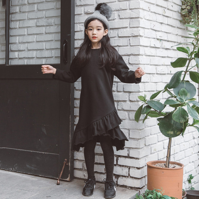 f8388d19b365b US $20.29 30% OFF|2019 New Spring Girl Dress Winter Girls Plus Velvet Dress  Thickened Toddler Baby Princess Dress Kids Clothes for Grils ,#3660-in ...