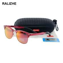 RALIZHE Mens Womens Fashion HD Polarized Sunglasses Designer Aluminum Magnesium Alloy Colorful Mirror Sun Glasses Semi UV400