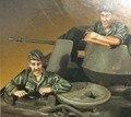 Envío Libre 1/35 Scale Figura de Resina de La Guerra de Vietnam EE.UU. AFV Crew 2 cifras