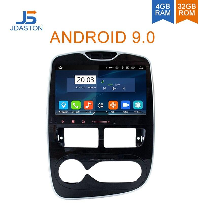 JDASTON 10.1 Polegada Android Leitor Multimédia 9.0 Carro Para Renault Clio 20152016 2017 2018 WIFI GPS Navigation Stereo 4 GB rádio do carro