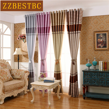 4 colors modern striped shade curtains for living room Window  Kitchen high quality blackout office bedroom