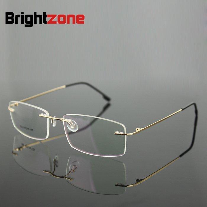 605e4f1ac 6 إطار الألوان Hingless غير المسمار الذاكرة التيتانيوم المعادن طوي الذراع  النظارات وصفة طبية Rx نظارات الإطار البصرية