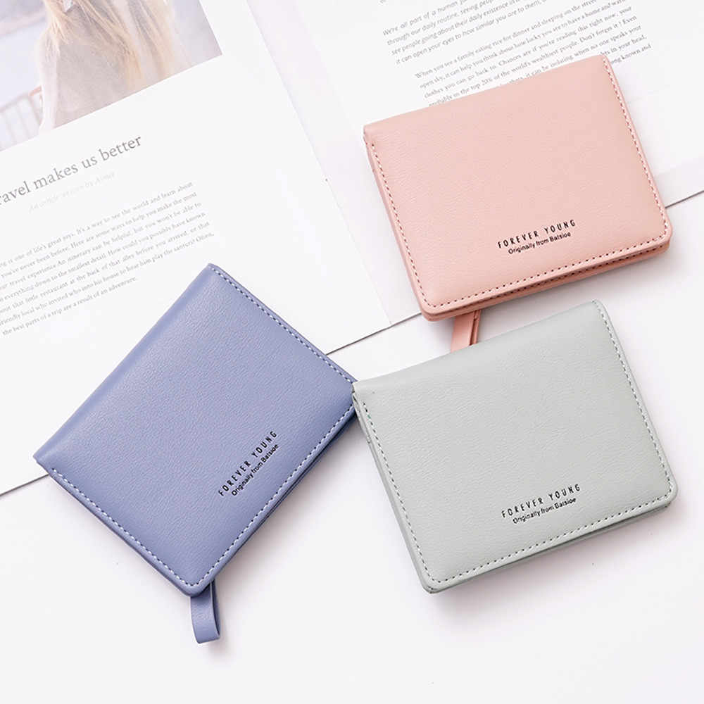 NEW Fashion Women Tassel Short Wallet Women Cute Short Wallet Fresh Student Bag Simple Multi-card Seat Buckle Coin Purse MAR25