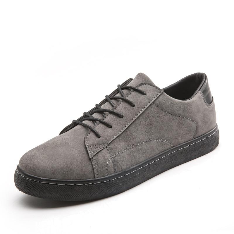 2018 Neue Mode Männer Echtes Leder Sneakers Lace Up Dicken Sohlen Casual Schuhe Leichte Atmungsaktive Fahren Schuhe 812 MöChten Sie Einheimische Chinesische Produkte Kaufen?