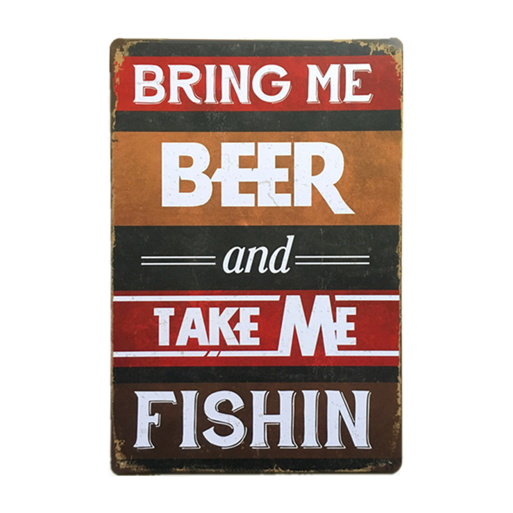 Beer Vintage Metal Signs 20*30cm Wall Plaques Art Plaque Metal Tin Sign Poster For Home Decor Club Wall Decoration Dropshipping