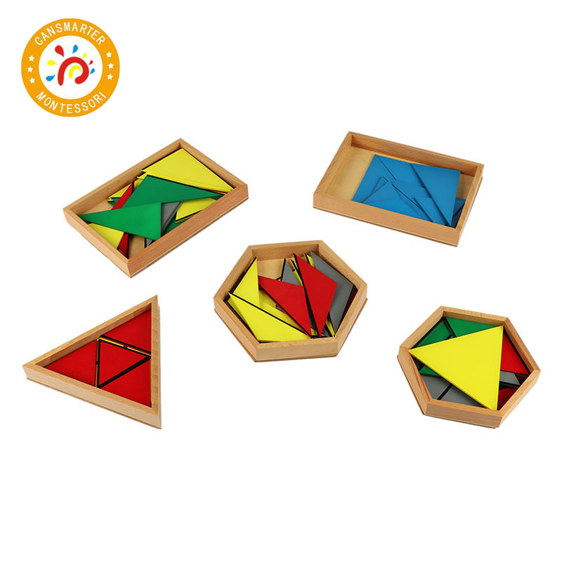 Baby Toy Montessori Materials Wooden Toys Constituting a Triangle Home School Box Geometric Toy Games Jigsaw puzzle - 2