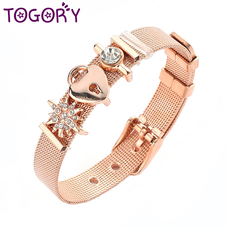 Fashion Style Fashion Stainless Steel Couple Bracelet Mesh Bracelet Hollow Love To Love Anchor Charm Fine Bracelet For Woman Lover Jewelry Jewelry & Accessories