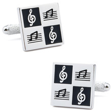 hot deal buy 1 pair retail rhodium plated with enamel square men's cuff links for wedding dress suit  jewelry