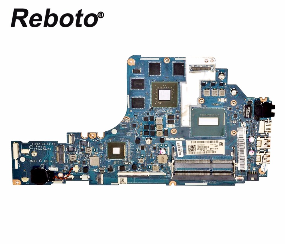 Modest Reboto For Lenovo Y70-70 Laptop Motherboard 5b20g59919 With I7-4710hq 2.5ghz Cpu Gtx 860m Zivy2 La-b111p 100% Tested Fast Ship Computer Components Computer & Office