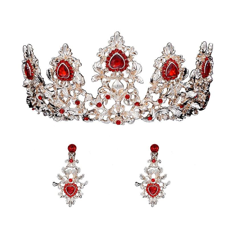 Headband Wedding Earrings Tiara Bridal-Jewelry-Set Crown Crystal Princess Women CX17
