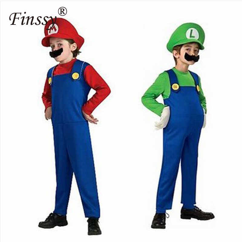 Detail Feedback Questions About Super Mario Cosplay Costume For Boys