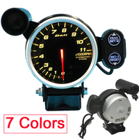 7 Color 80mm Auto Tachometer Car Truck Gasoline Engine rpm meter Gauge with Shift Light 11000 RPM Stepper Motor Defi Gauge