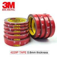 3 M 4229 Grau Farbe, 0,8mm Dick, doppel Beschichtet Klebstoff Acryl Schaum Klebeband Für Automotive Außen Trim Teile, Seitenschutzleisten