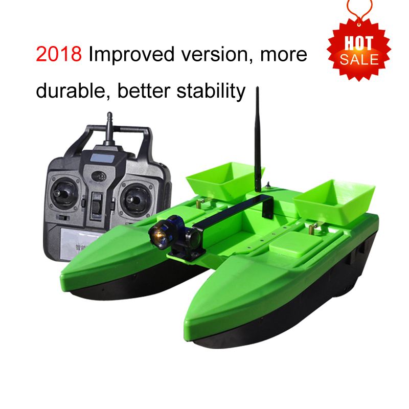 Hu Ying Electric RC Bait Boat 500M 2KG Three Cabin Wo Double Hull Wireless Delivery hook feeding Smart RC Bait Fishing Boat free shipping factory price catamaran hull jabo 5a long distance two hoppers rc bait boat for releasing hook