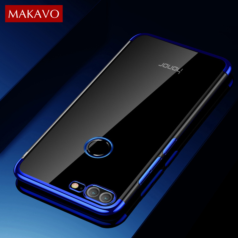 san francisco 414fa 64b86 US $2.99 40% OFF|MAKAVO For Huawei Honor 9 Lite Case Luxury Soft Clear  Transparent Plating Cover Phone Cases For Honor 9 Lite Honor9 Lite-in  Fitted ...